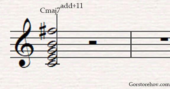 повышенная 11 ступень в аккорде