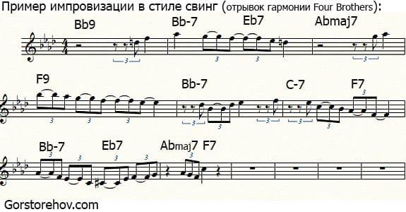Пример импровизации в стиле свинг