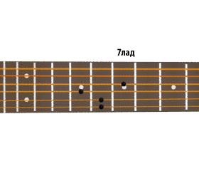 аккорд ля-минор семь - второй вариант
