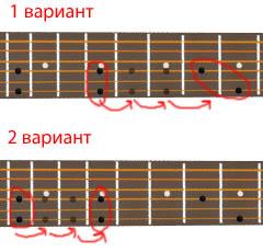 аккорд G7 - хроматические переходы