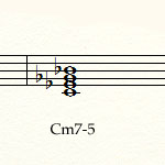 блюзовая гамма - аккорд Cm7-5