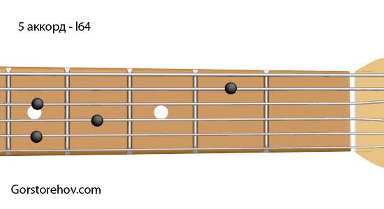 Как взять третье обращение аккорда ми минор на гитаре