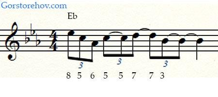 1 фраза для аккорда Eb