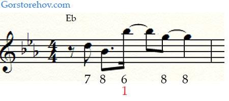 2 фраза для аккорда Eb