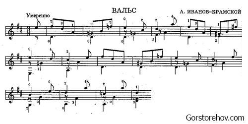 ноты произведения