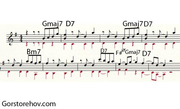 Второй интересный момент - аккорды для развития