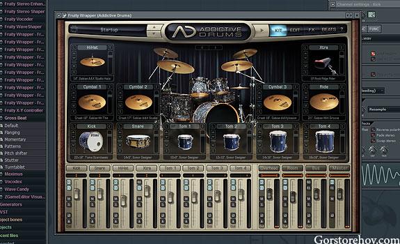 Как выглядят Addictive Drums