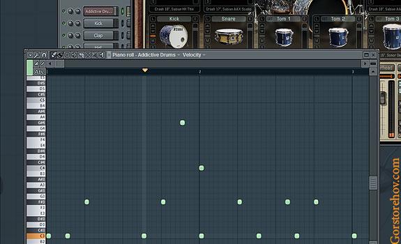 Как увидеть какая клавиша какому элементу барабанной установки соответствует