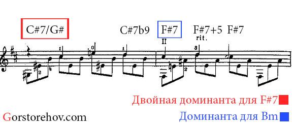 Аккорды для 7 и 8 тактов нового отрезка прелюдии