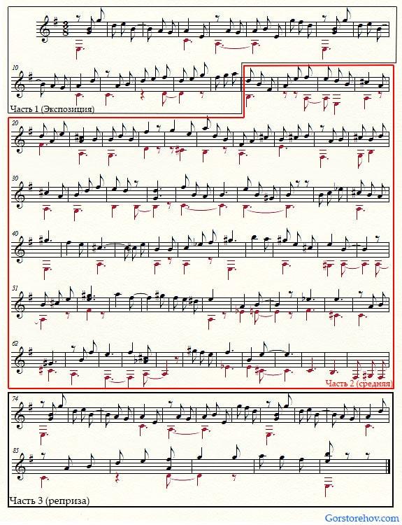 Музыка в трёхчастной музыкальной форме