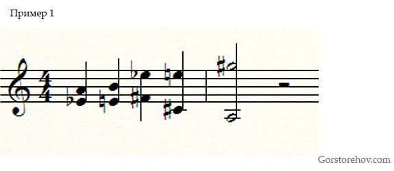 Использование звукоряда пример 1
