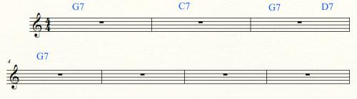 стандартная гармония блюза G
